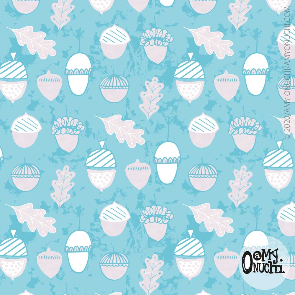 frosted acorn party